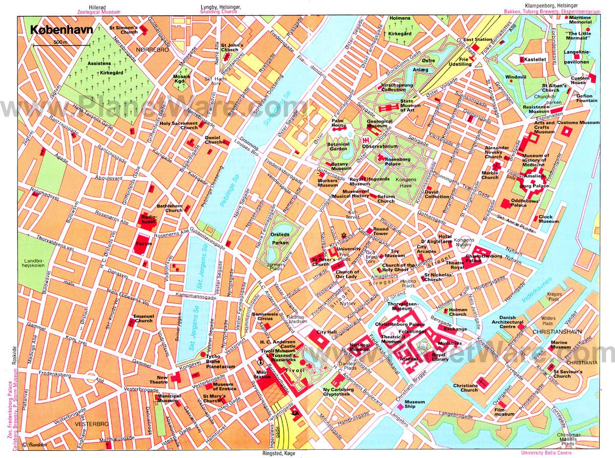 Copenhagen Map - Detailed City And Metro Maps Of Copenhagen For - Copenhagen Tourist Map Printable