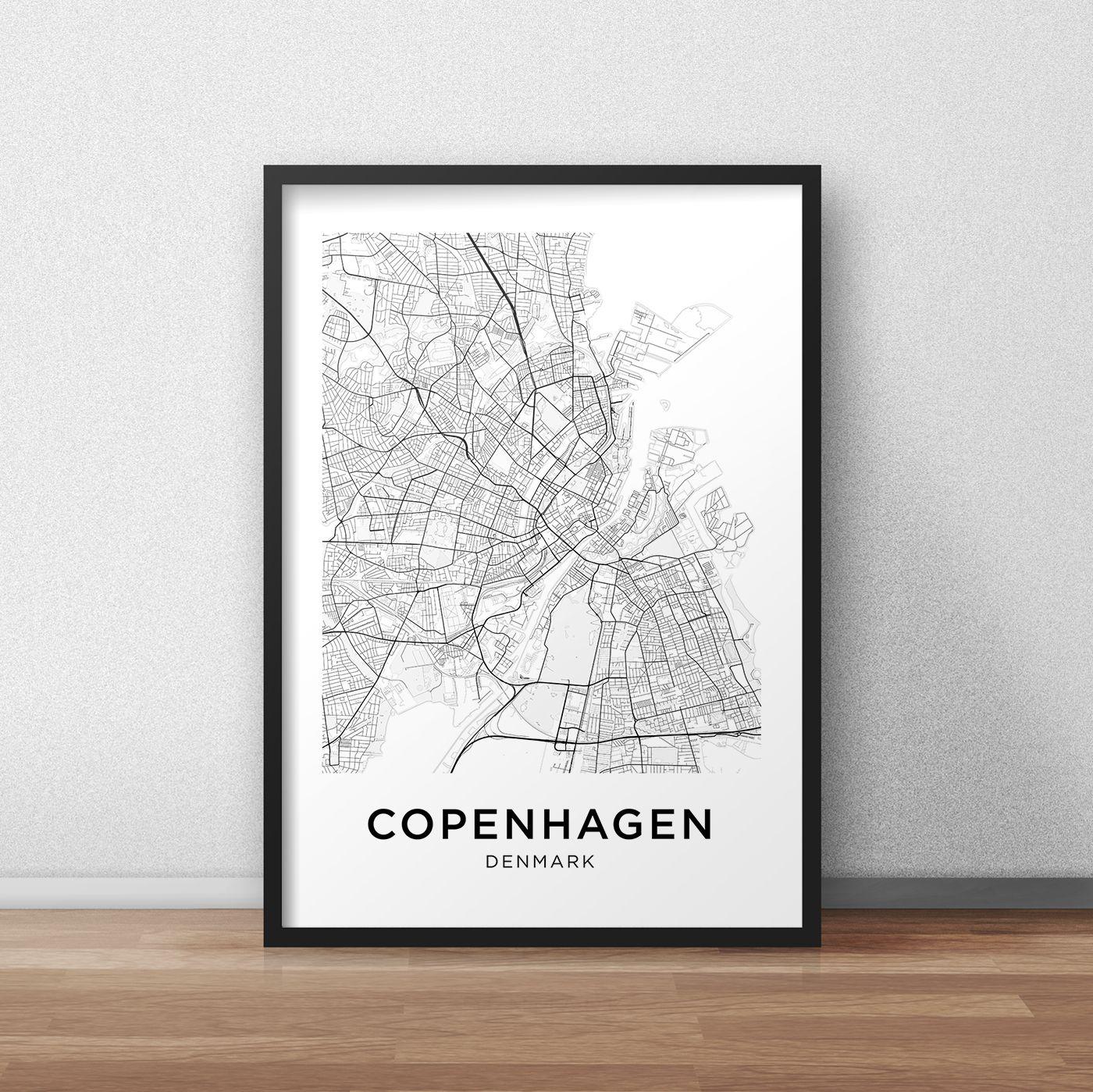 Copenhagen Map Print, Printable Copenhagen Map, Copenhagen City Map - Helsinki City Map Printable