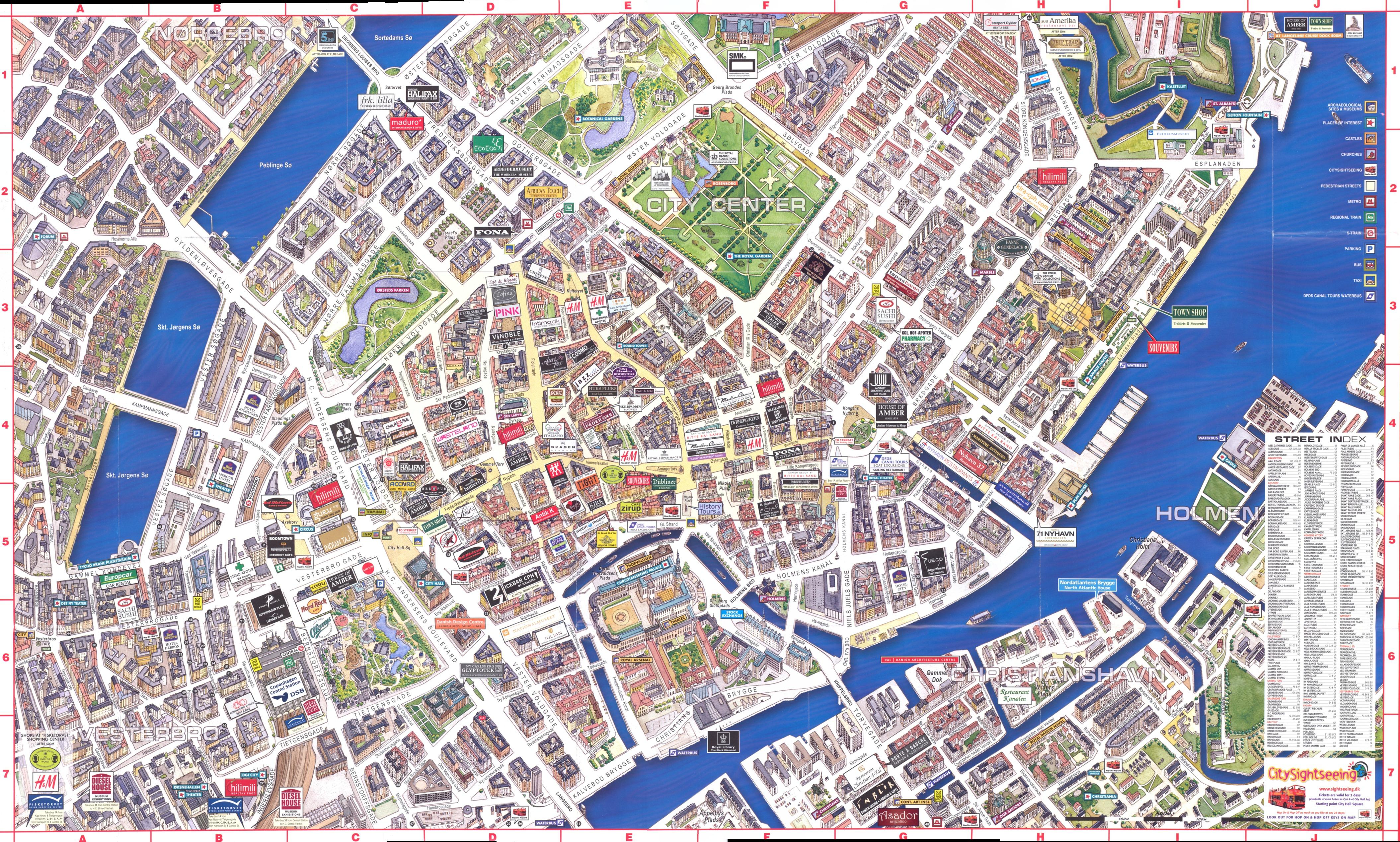Copenhagen Maps | City Maps - Copenhagen Tourist Map Printable