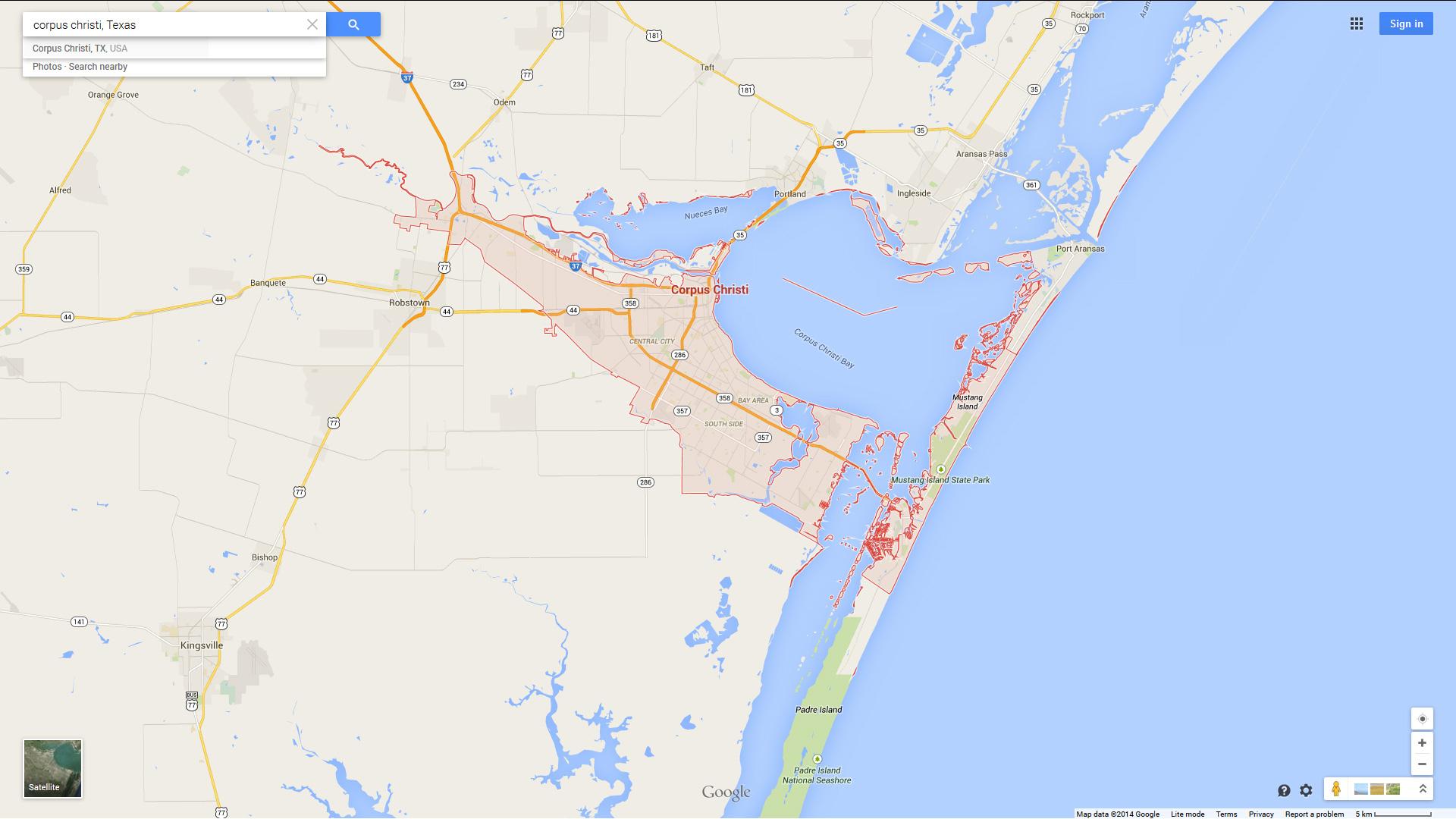Corpus Christi, Texas Map - Google Maps Corpus Christi Texas