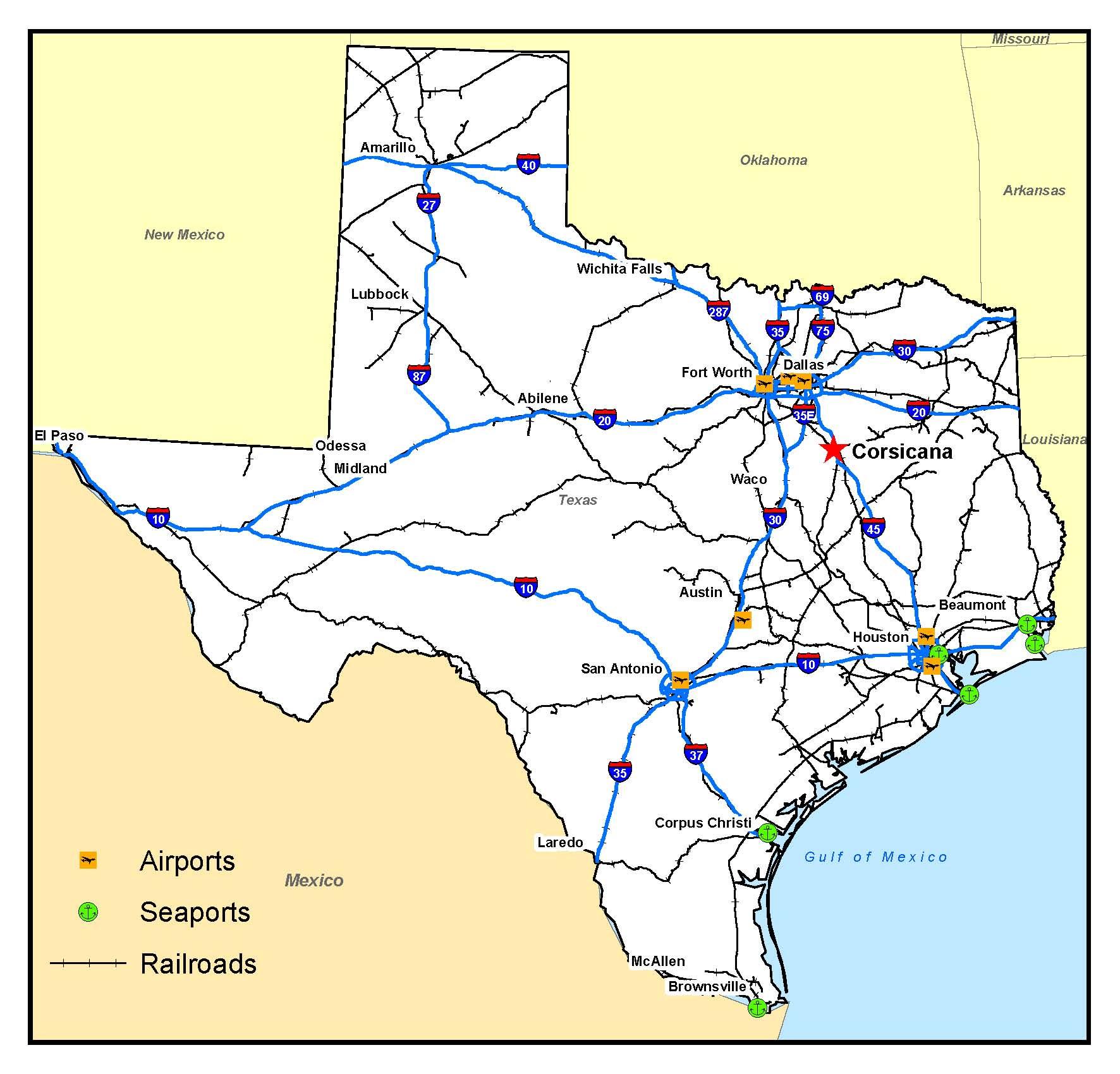Corsicana Tx Us Map Interactive Hail Maps Hail Map For Corsicana Tx - Hail Maps Texas