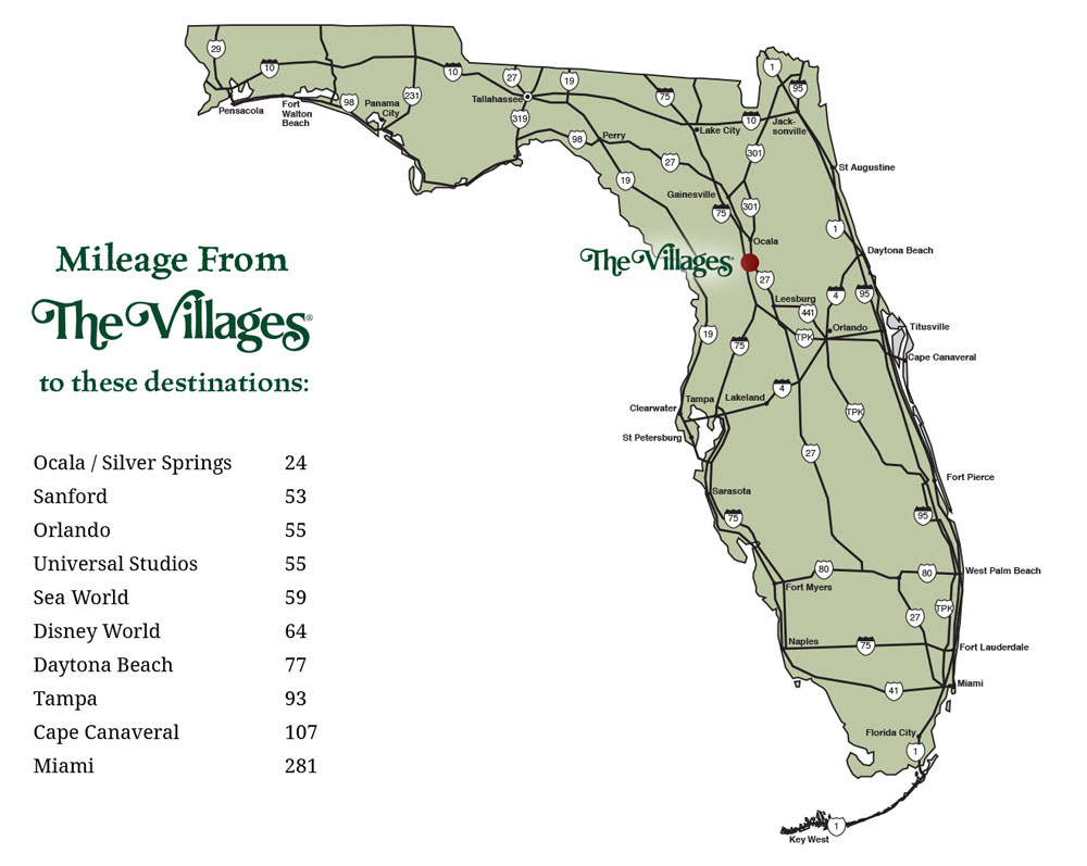 Cost Of Living In The Villages® - Map Of The Villages Florida Neighborhoods