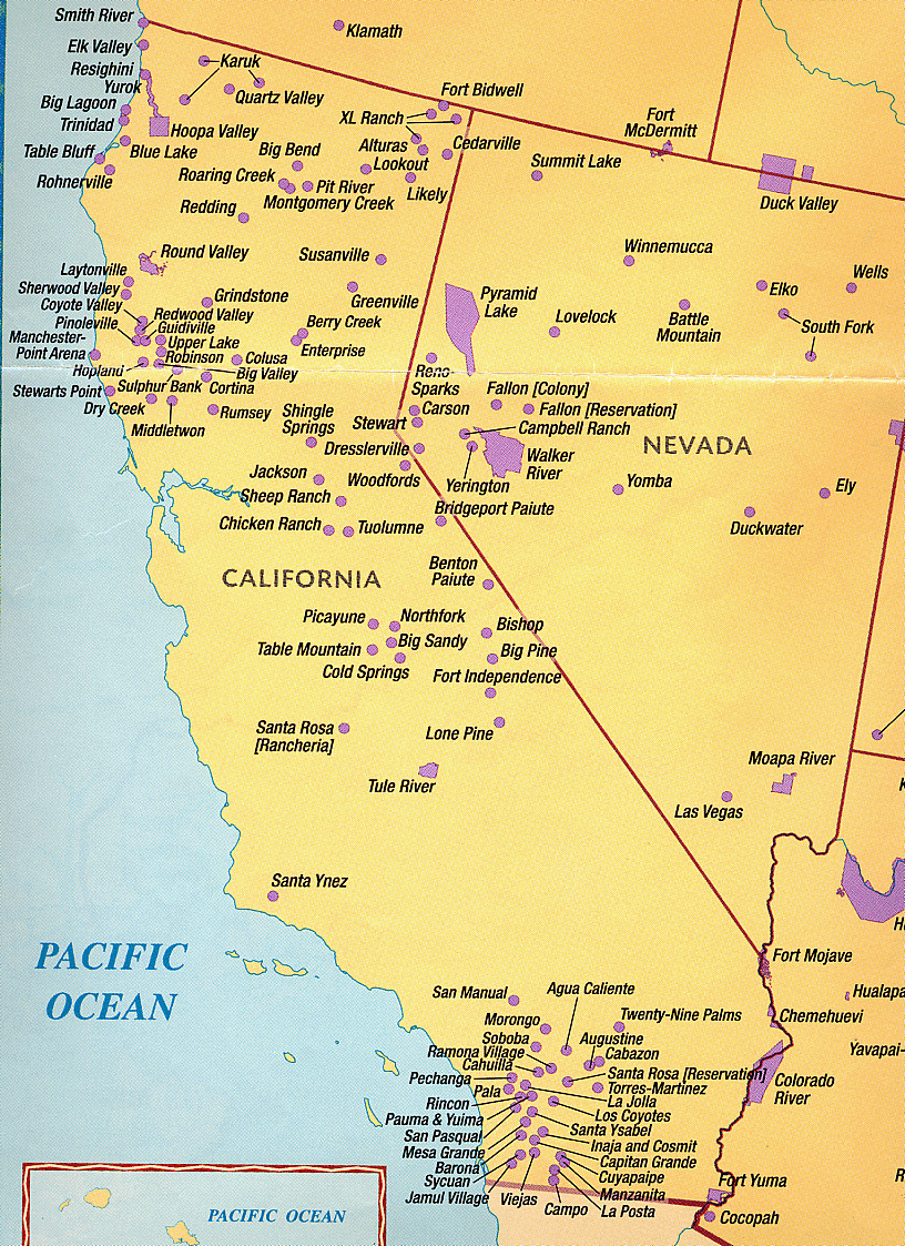 Costanosouthmap Free Print Map Map Of California Native American - Southern California Native American Tribes Map