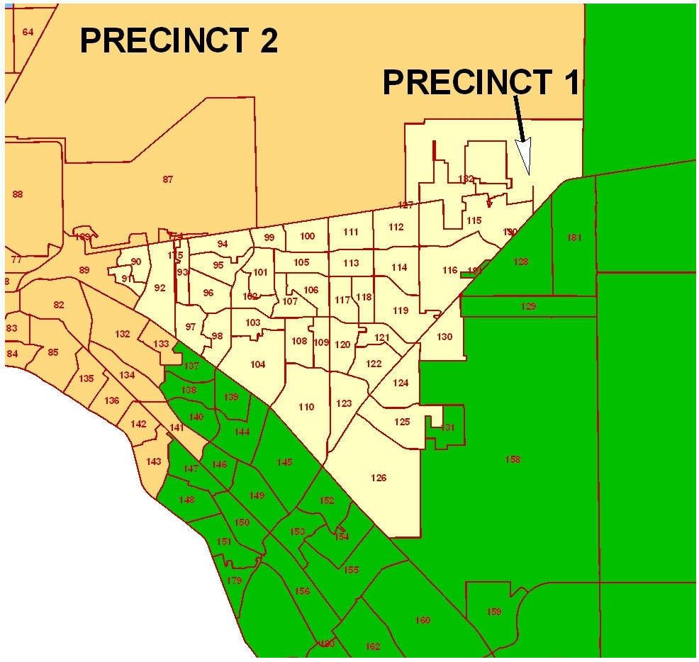 County Of El Paso Texas - Commissioner Precinct 1 - El Paso County Map Texas