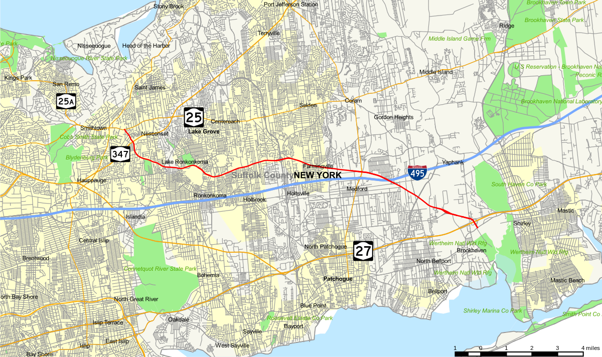 County Route 16 (Suffolk County, New York) - Wikipedia - Printable Map Of Suffolk County Ny