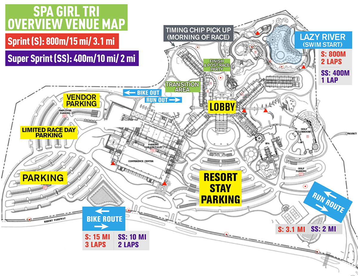 Course Maps - Spa Girl Tri | Spa Girl Tri - Lost Pines Texas Map