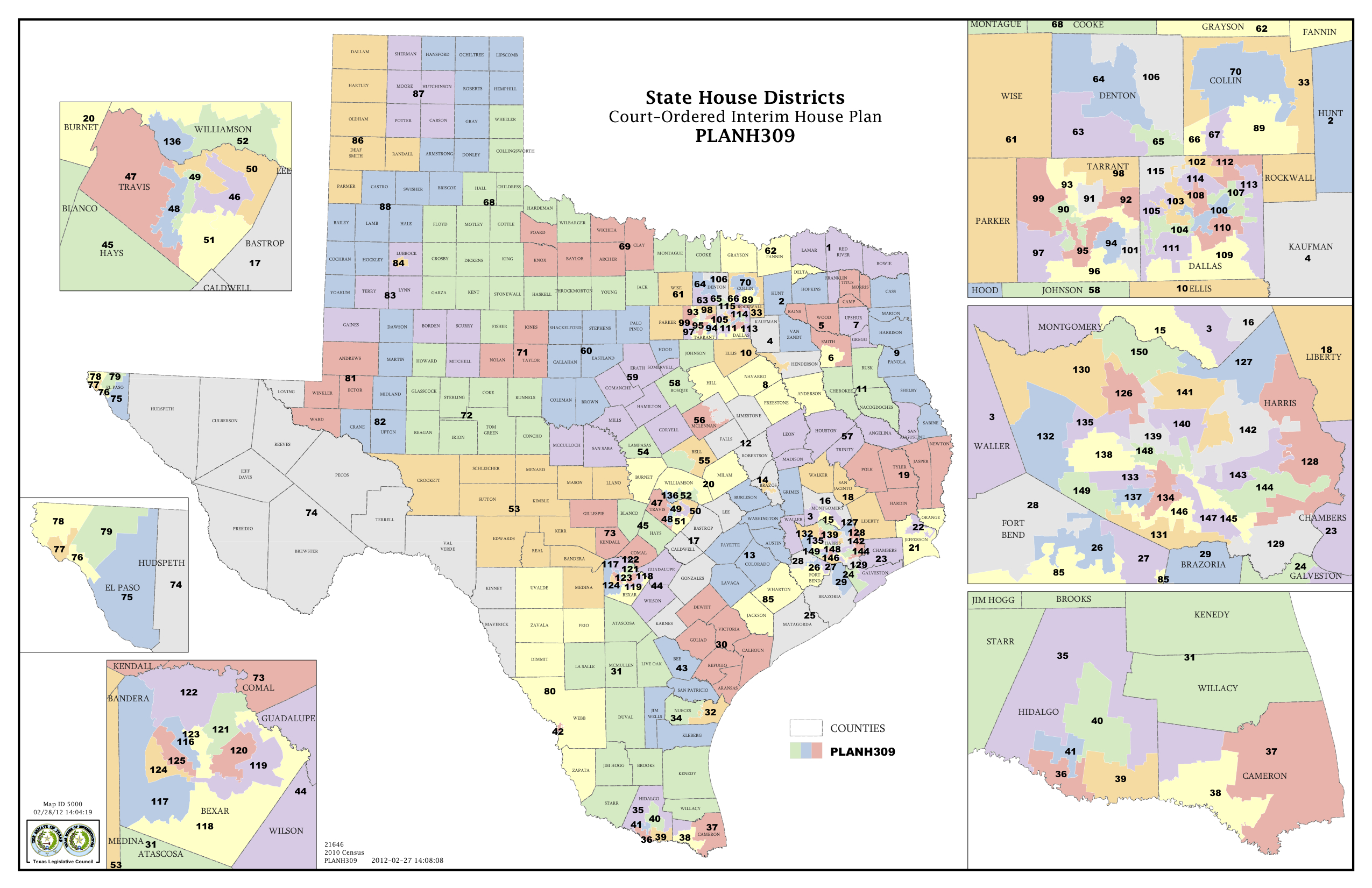 Court Delivers Election Maps For Texas House, Congress | The Texas - Texas Senate District Map