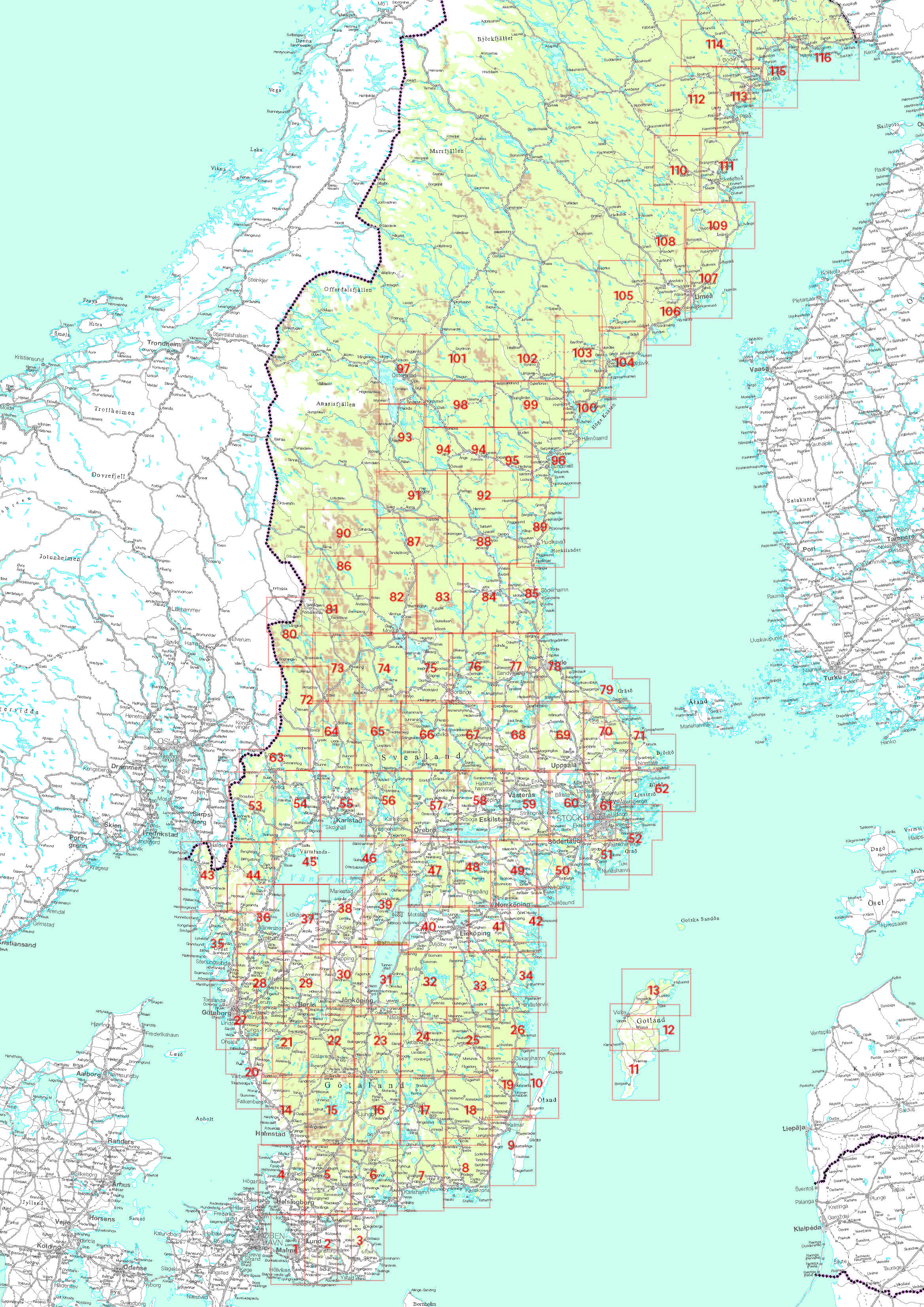 Craenen: Norstedts Detailed Maps - Printable Maps By Waterproofpaper Com