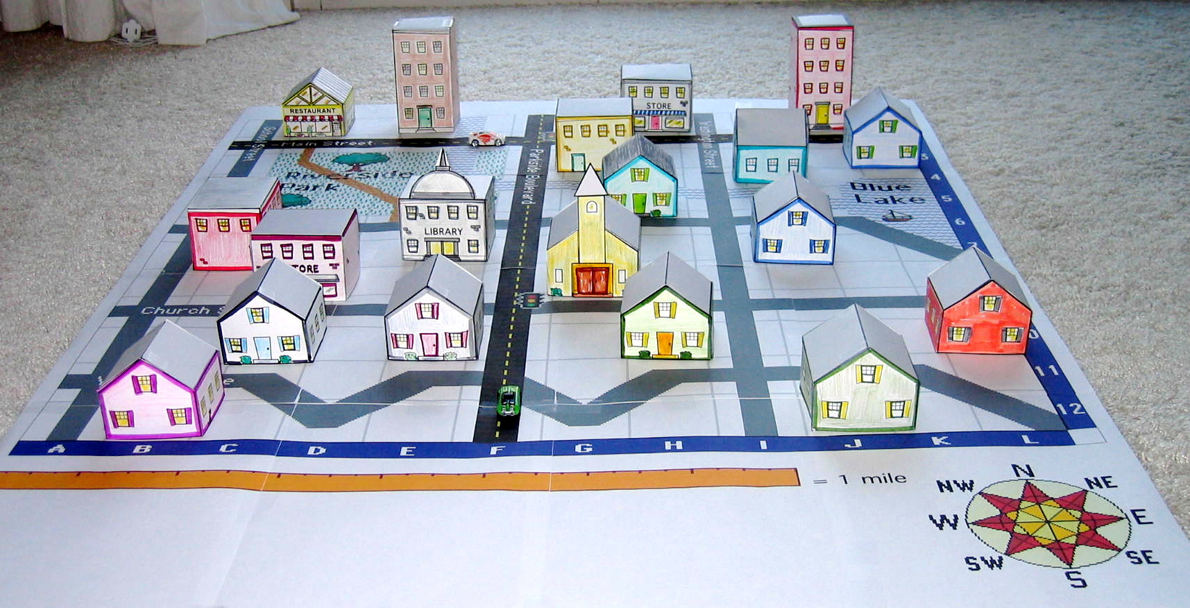 Create A 3D Town & Nurture Young Explorers - Create Printable Map