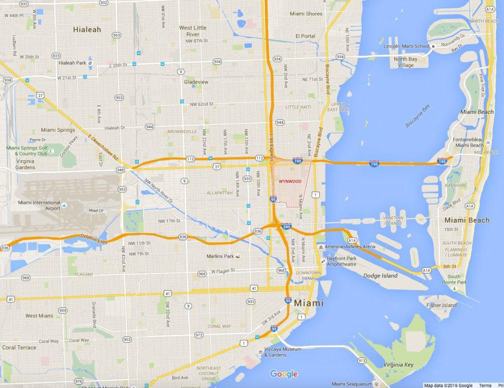 Creative Office Space In Wynwood | Metro 1 - Google Map Miami Florida