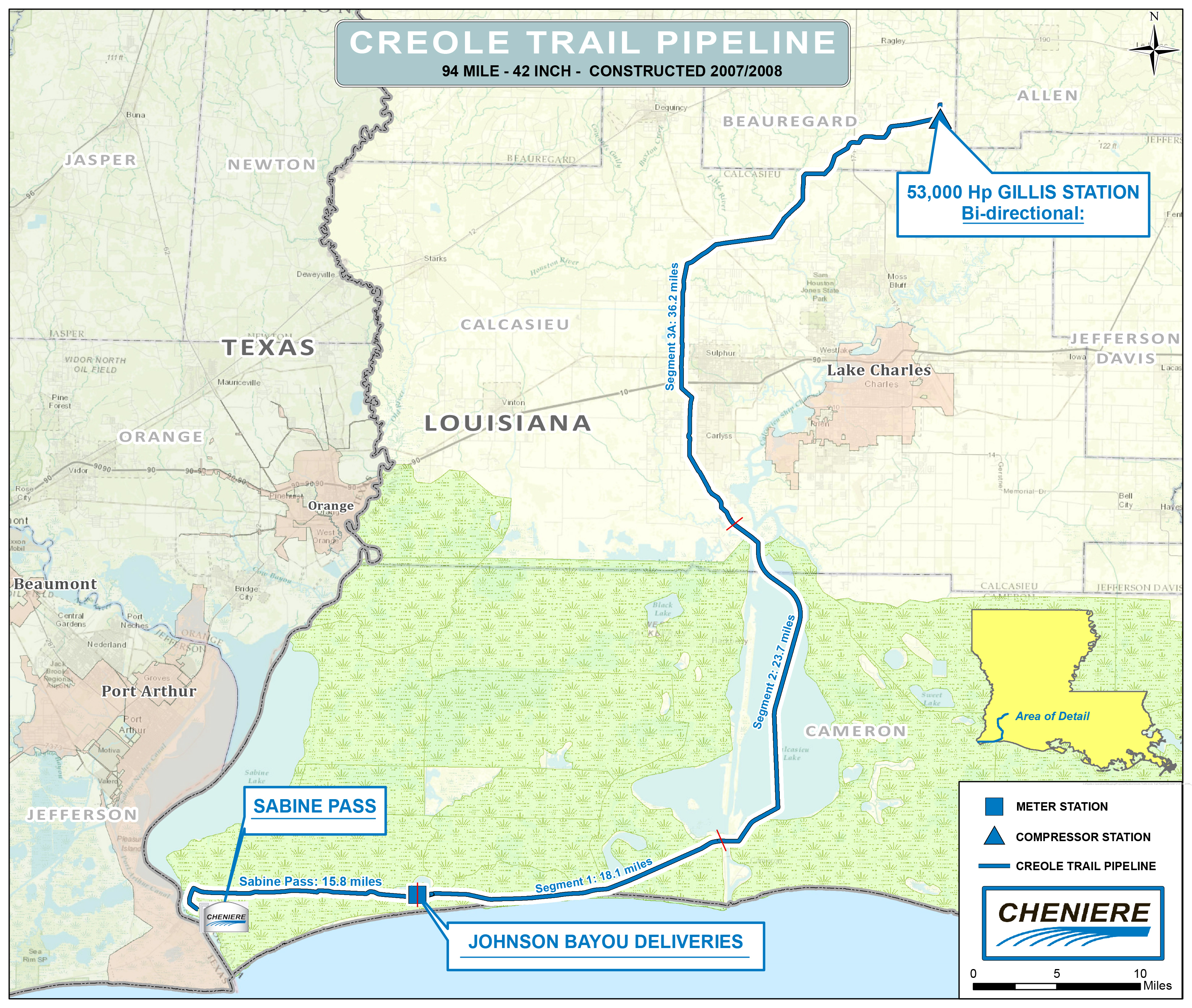 Creole Trail Pipeline | Cheniere Energy - Florida Natural Gas Pipeline Map