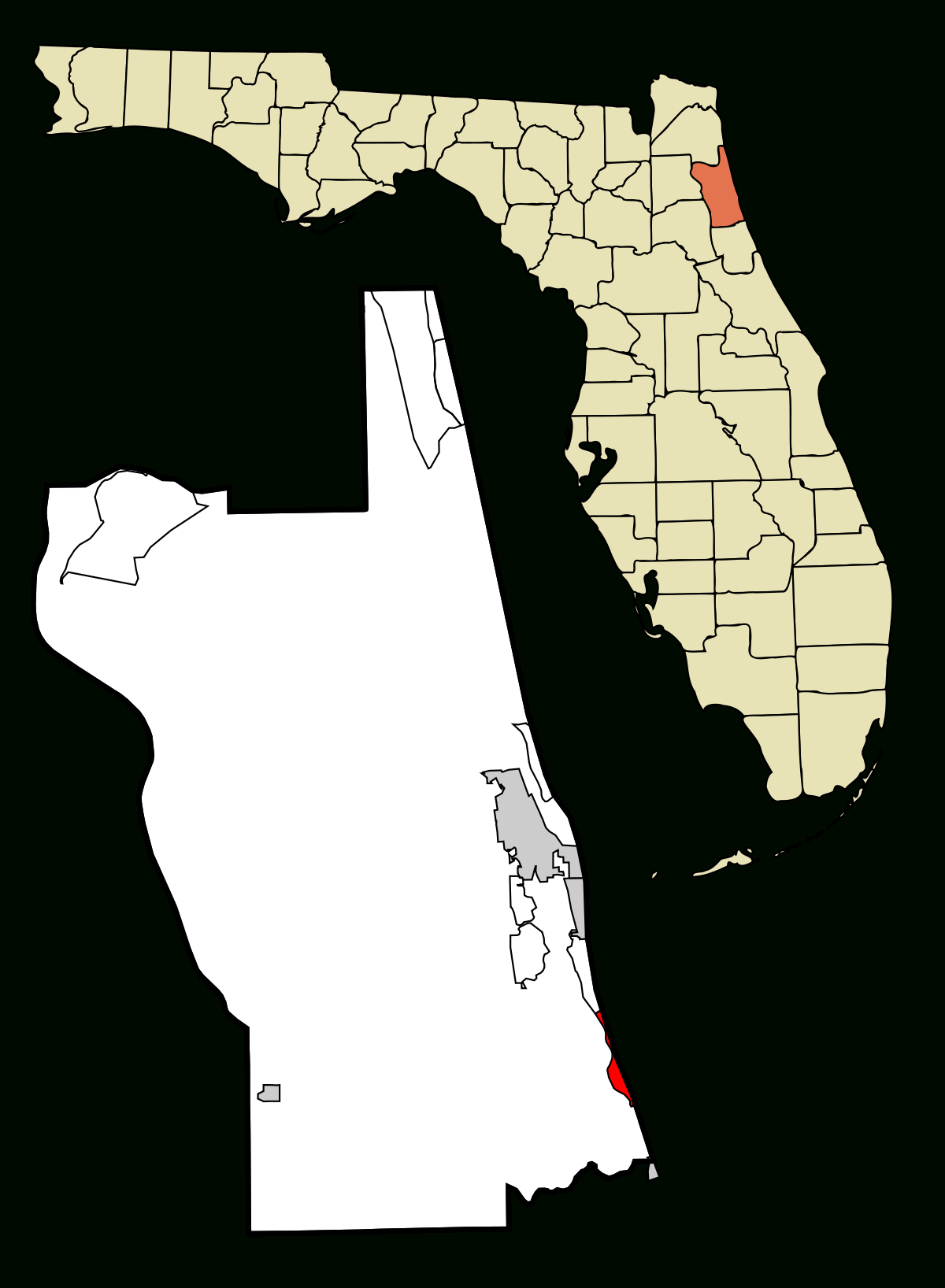 Crescent Beach, St. Johns County, Florida - Wikipedia - Map Of Crescent Beach Florida