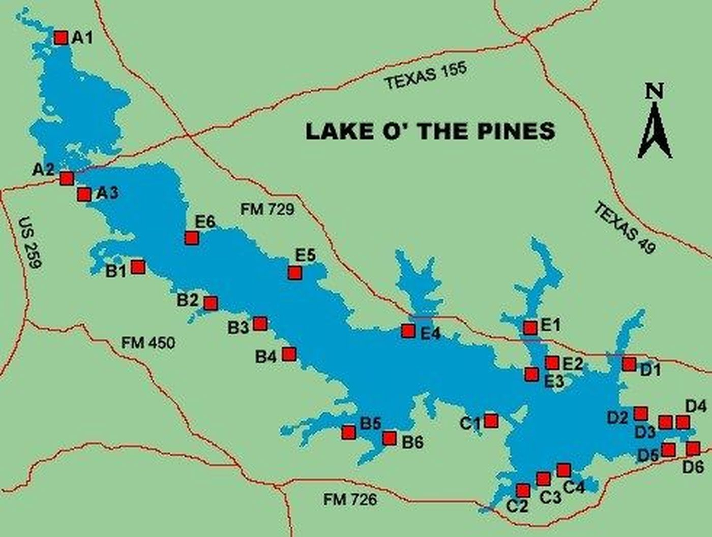 Crews Searching For Missing 70-Year-Old Man At Lake O' The Pines - Lake Of The Pines Texas Map