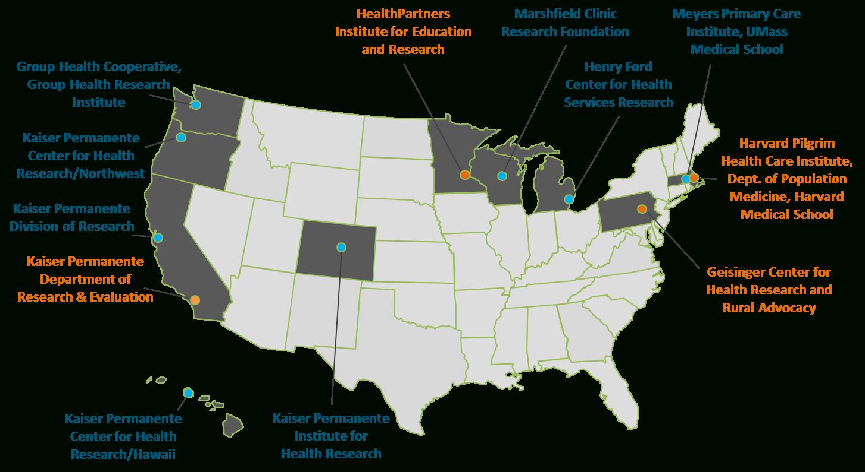 Crn Participants - Kaiser Permanente Locations In California Map