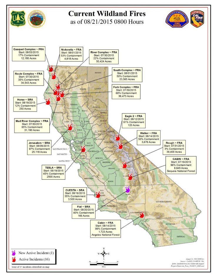 2018 California Fire Map