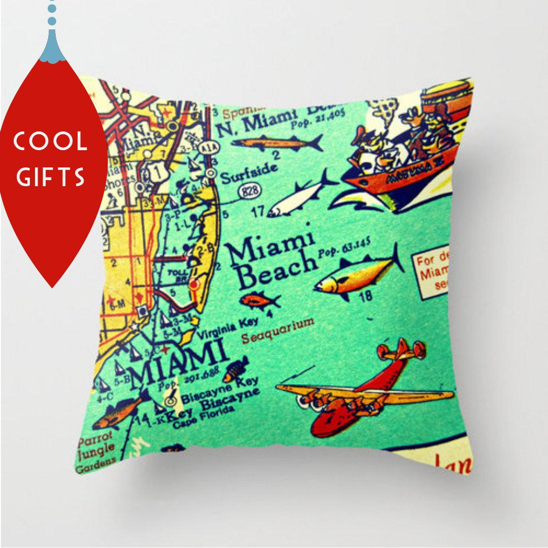 Custom Florida Map Pillow Covers 18X18 Florida Gifts Travel | Etsy - Christmas Florida Map