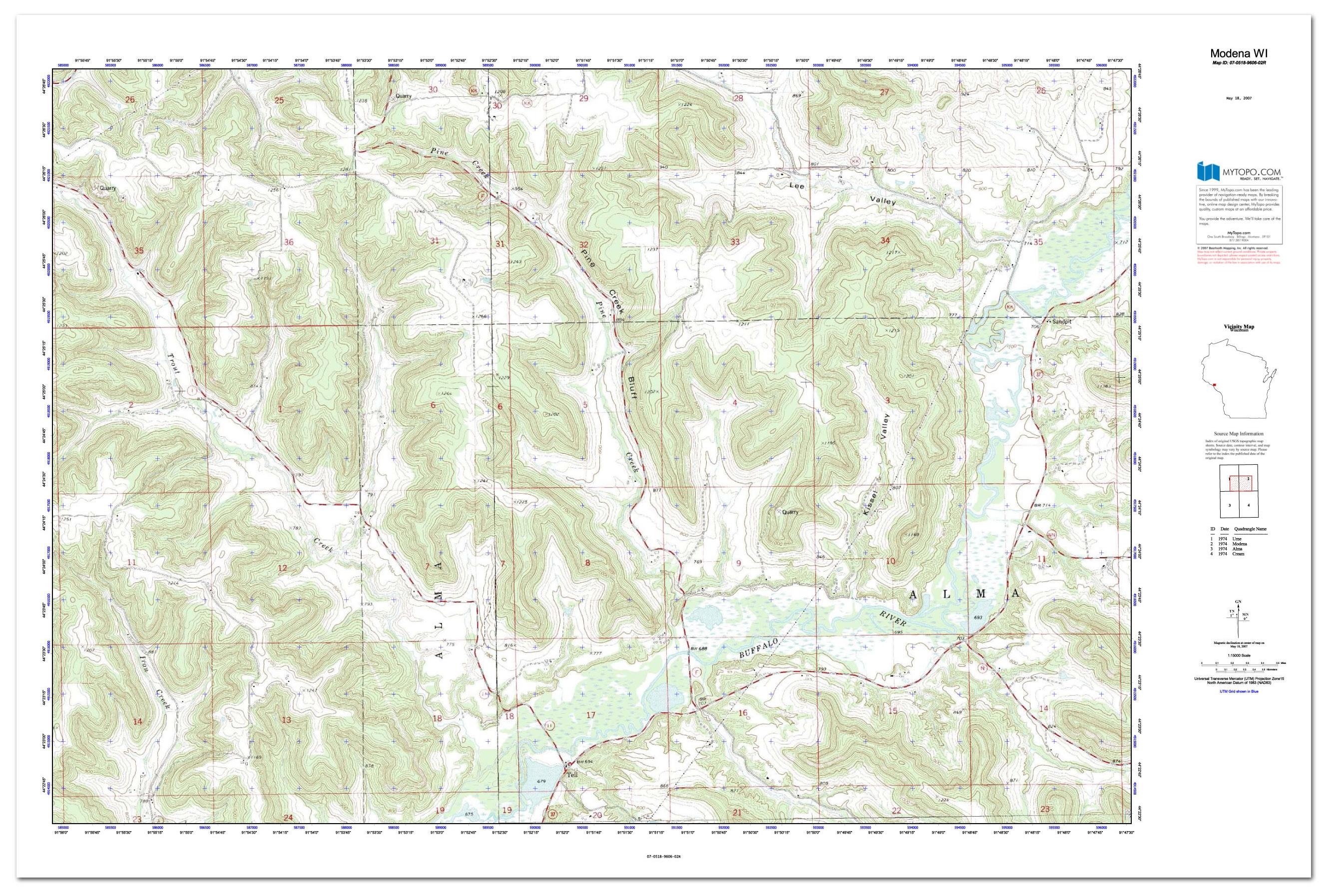 Custom Printed Topo Maps - Custom Printed Aerial Photos - Printable Topo Maps Online