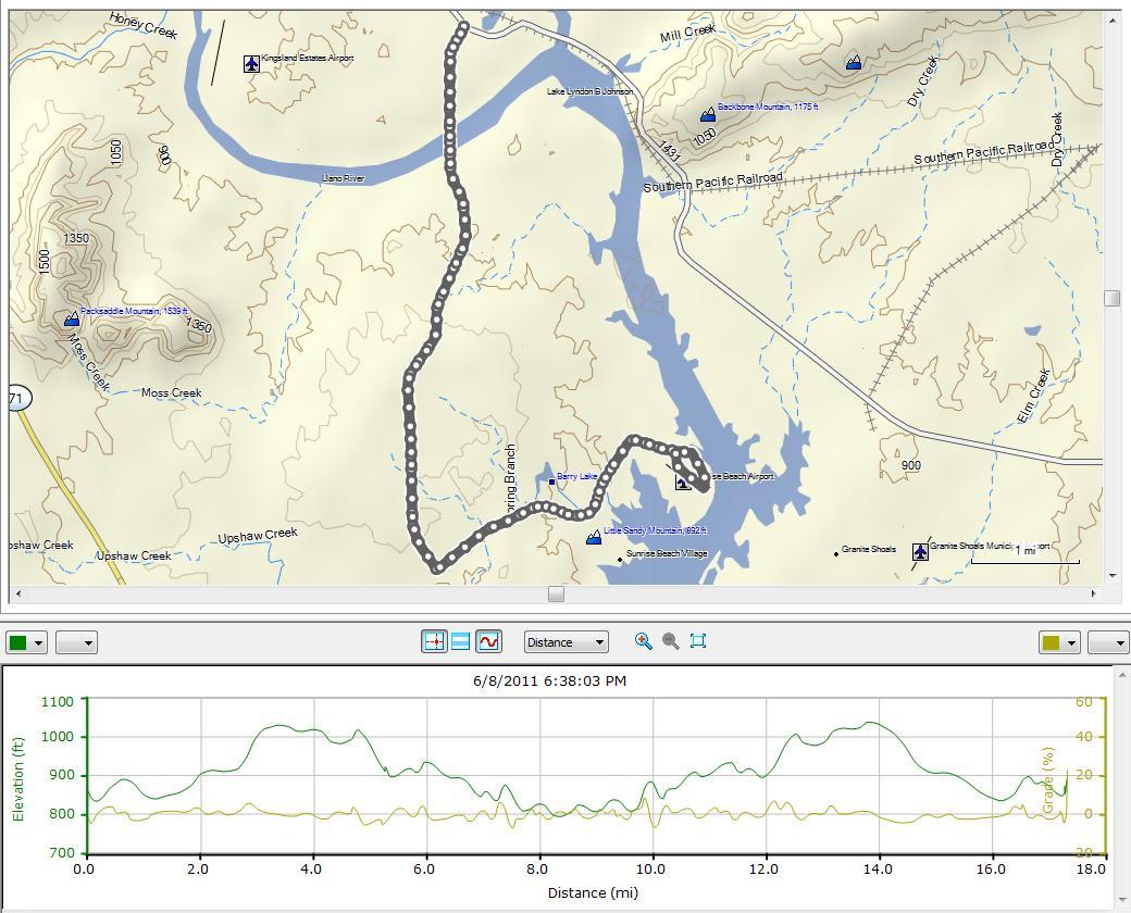 Cycling – Kingsland / Sunrise Beach Loop 6/8/2011   Don Bynum's Blog - Sunrise Beach Texas Map