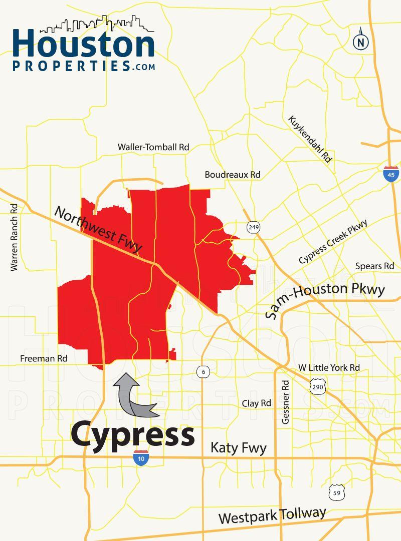 Cypress Tx Map | Great Maps Of Houston | Houston Neighborhoods - Map Of Northwest Houston Texas