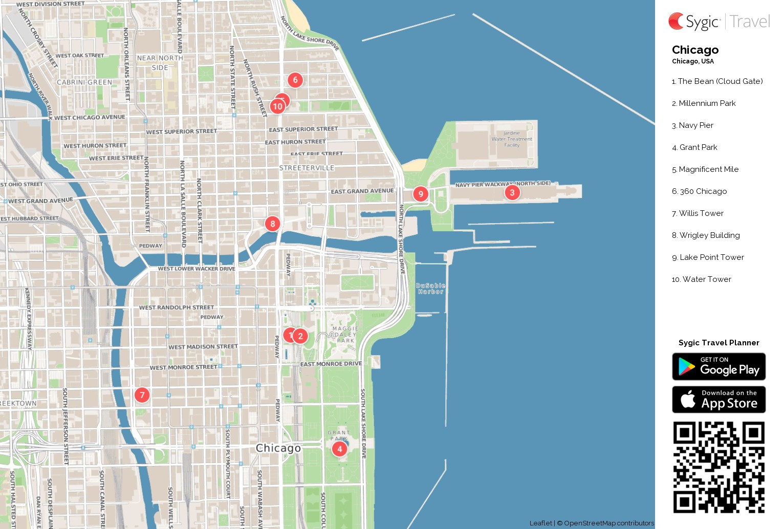 D1Softball | Maps - Map Of Chicago Attractions Printable