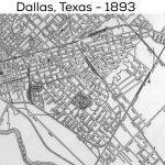 Dallas Street Map: 1893 | Dallas County, Usa | Dallas Map, Dallas   Street Map Of Dallas Texas