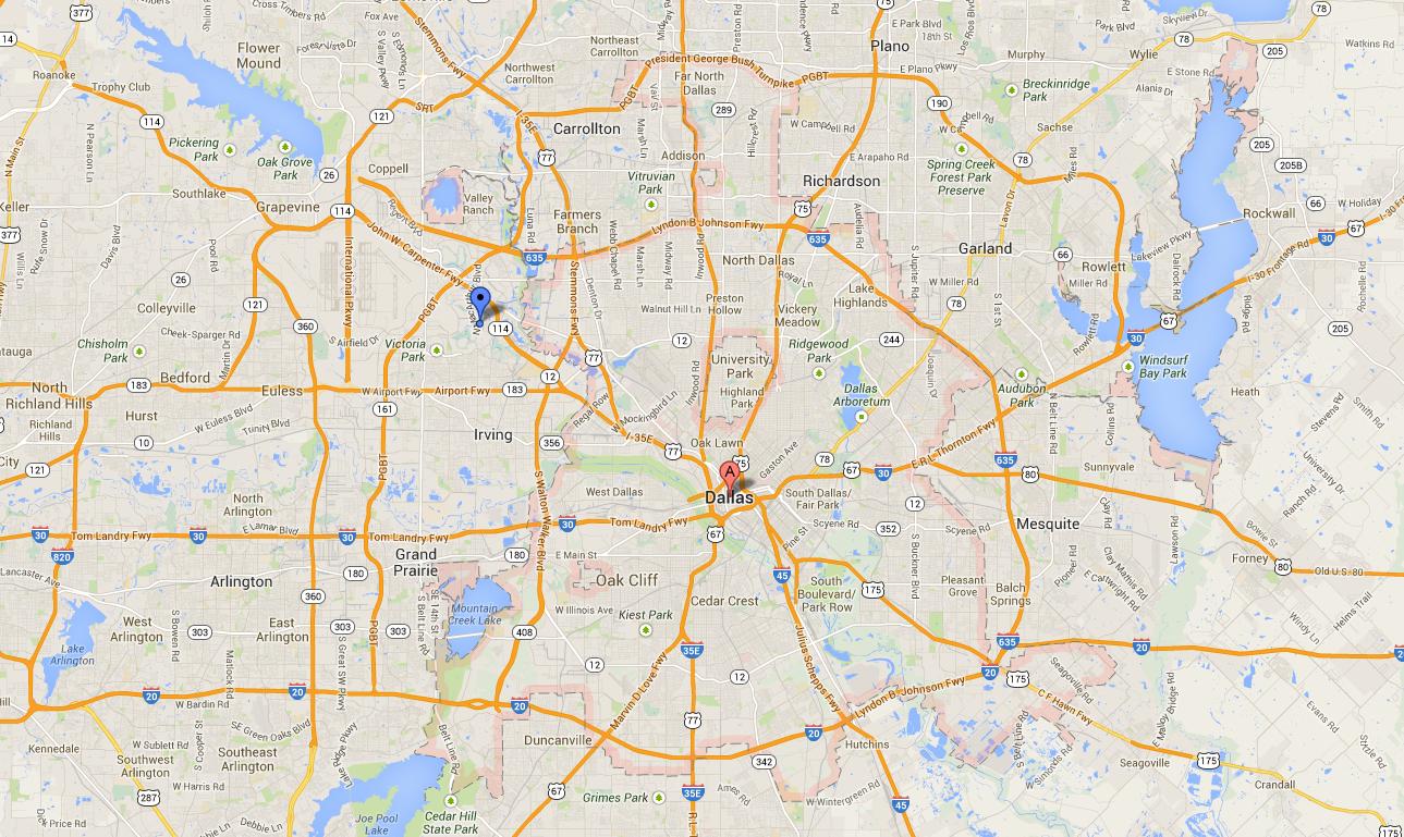 Dallas Texas Maps Google | Business Ideas 2013 - Google Texas Map