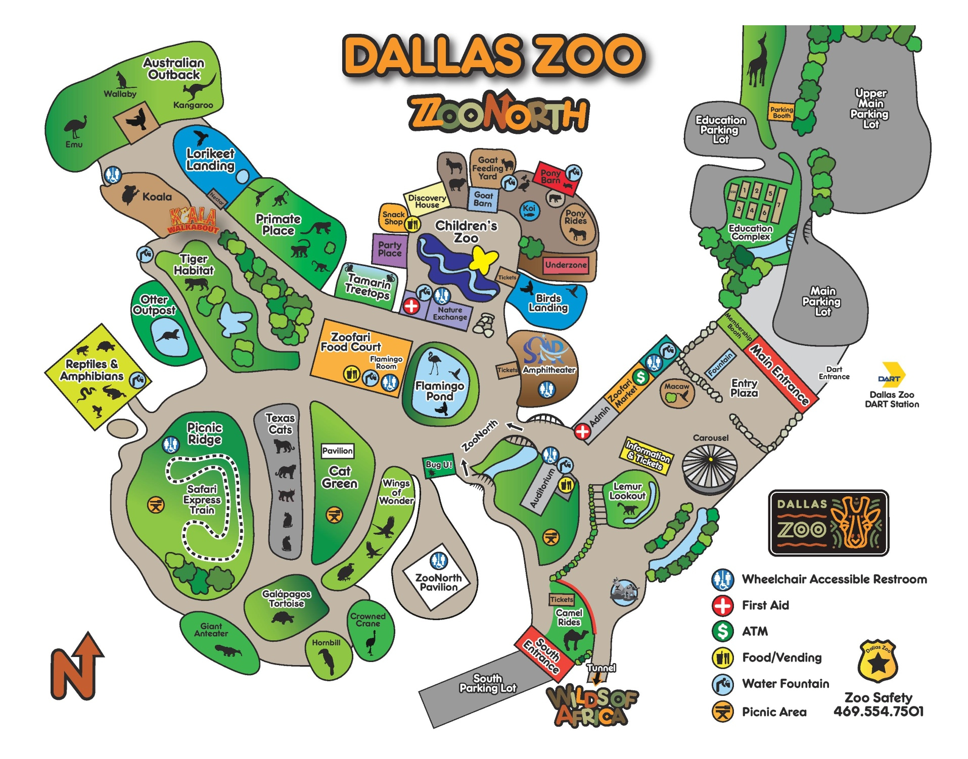 Dallas Zoo Map - Zoos In Florida Map