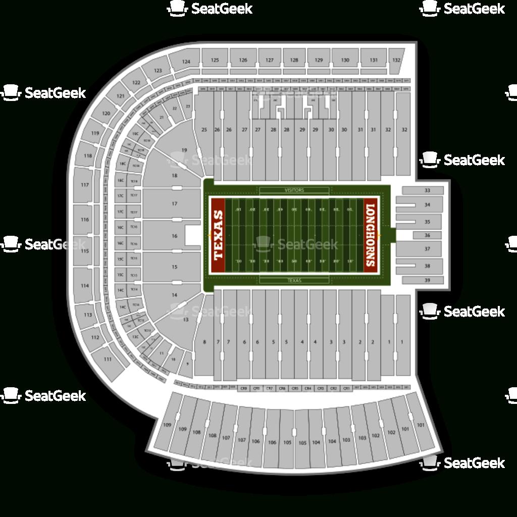 Darrell K Royal - Texas Memorial Stadium Seating Chart & Map | Seatgeek - Dkr Texas Memorial Stadium Map