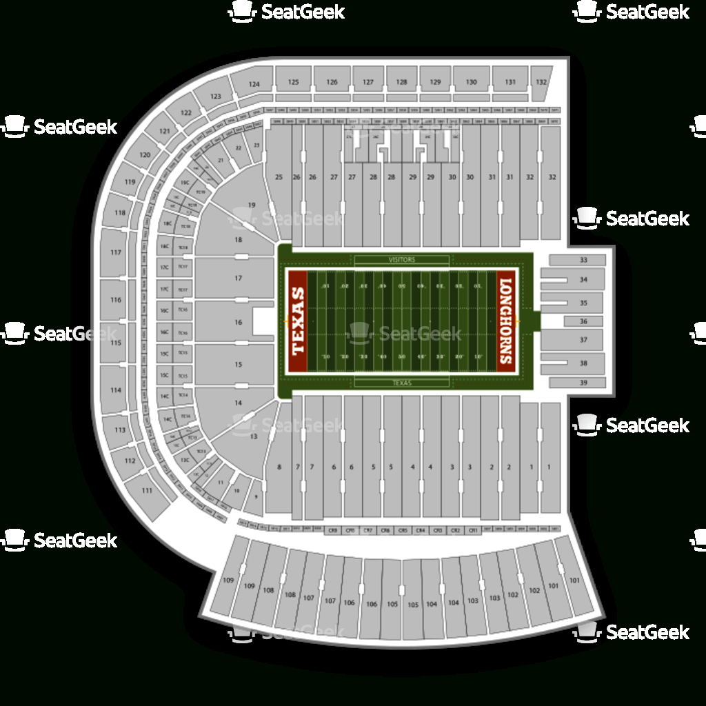 Darrell K Royal - Texas Memorial Stadium Seating Chart & Map | Seatgeek - Texas Longhorn Stadium Seating Map