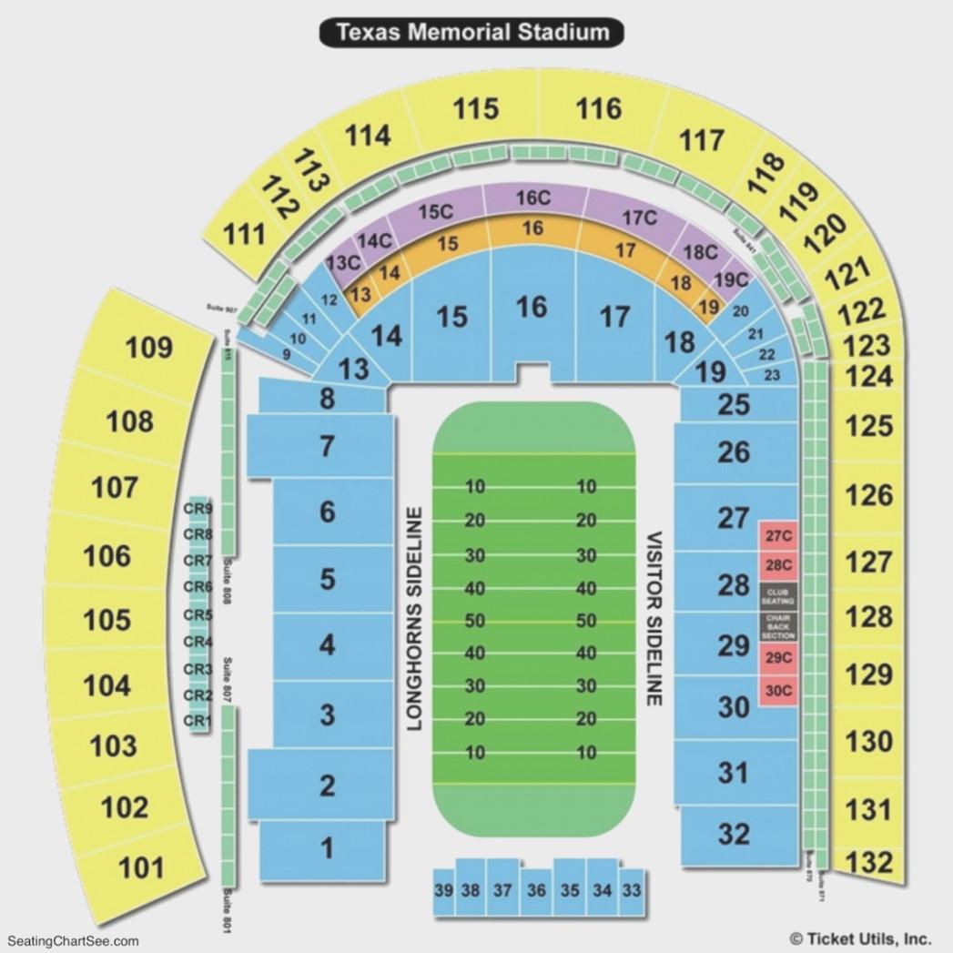 Darrell K Royal Texas Memorial Stadium Seating Chart | Seating - Dkr Texas Memorial Stadium Map