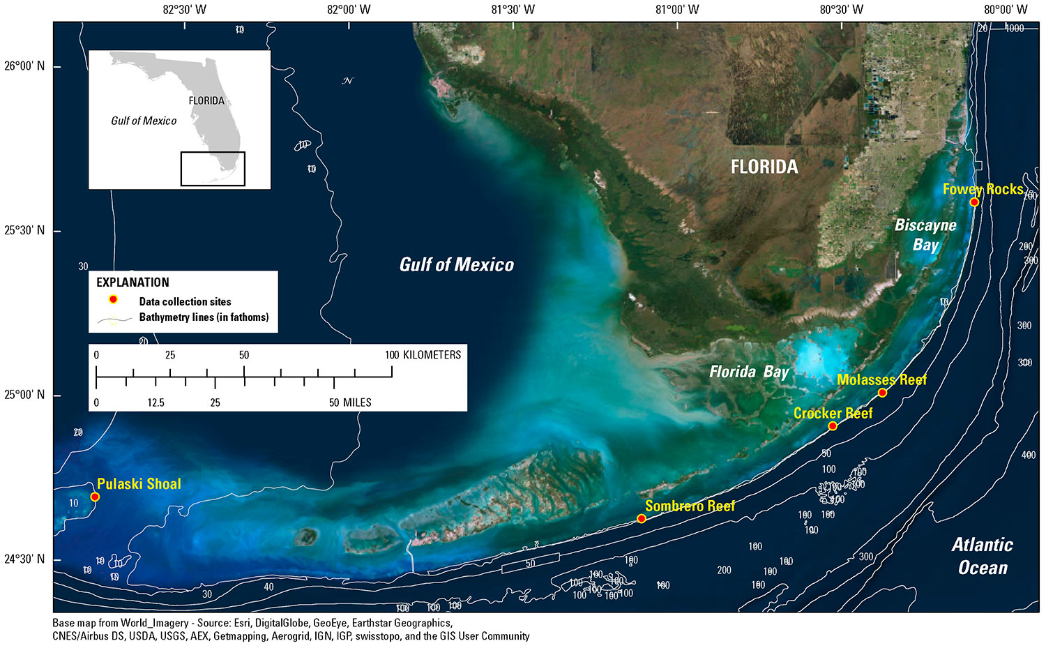Data Release - Underwater Temperature On Off-Shore Coral Reefs Of - Florida Underwater Map