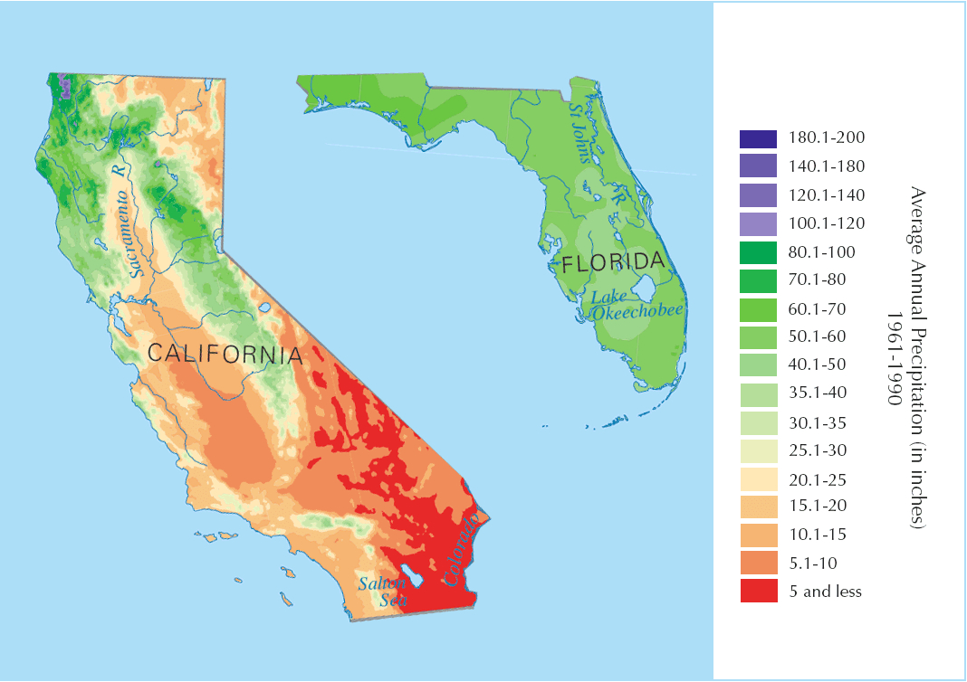 Davidson Brothers: California Vs Florida Oranges, What's The Difference? - Florida Orange Groves Map