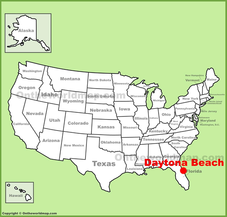 Daytona Beach Location On The U.s. Map - Map Of Daytona Beach Florida