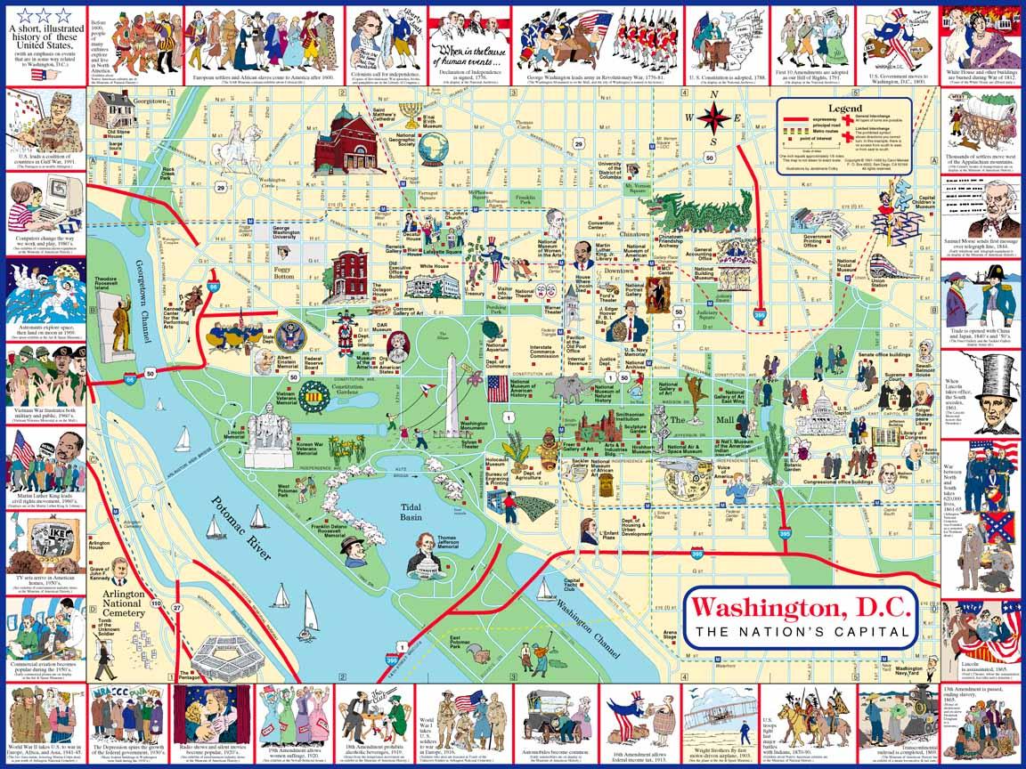 Dc Monuments Map | Compressportnederland - Printable Walking Map Of Washington Dc