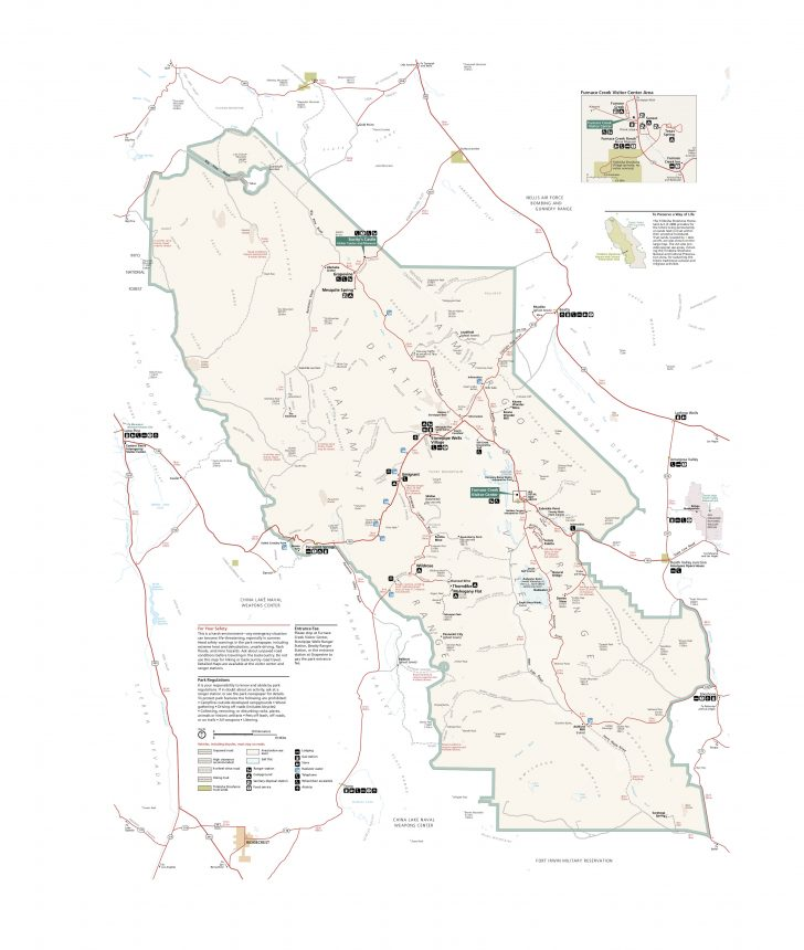 Death Valley California Map
