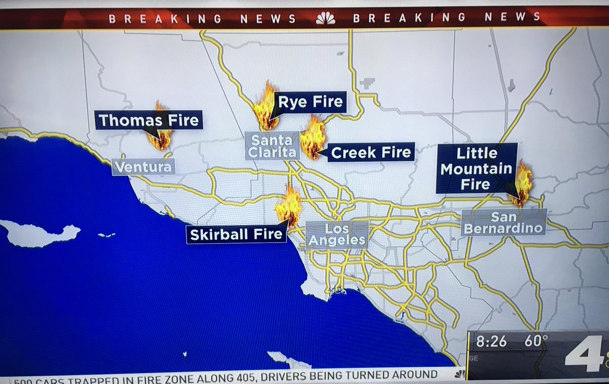 December 2017 - California Mountain Fire Map