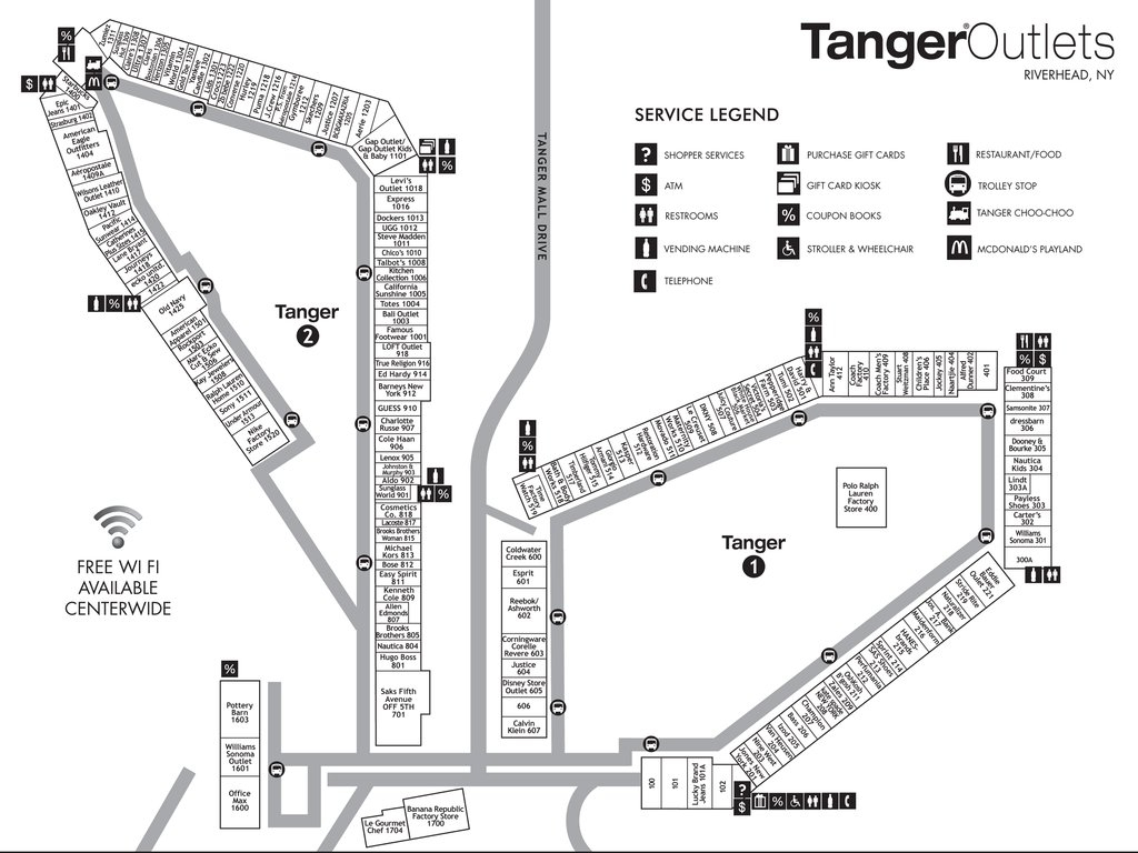 Deer Park Tanger Map Show Me A Map Of Costa Rica - Tanger Outlets Texas City Stores Map