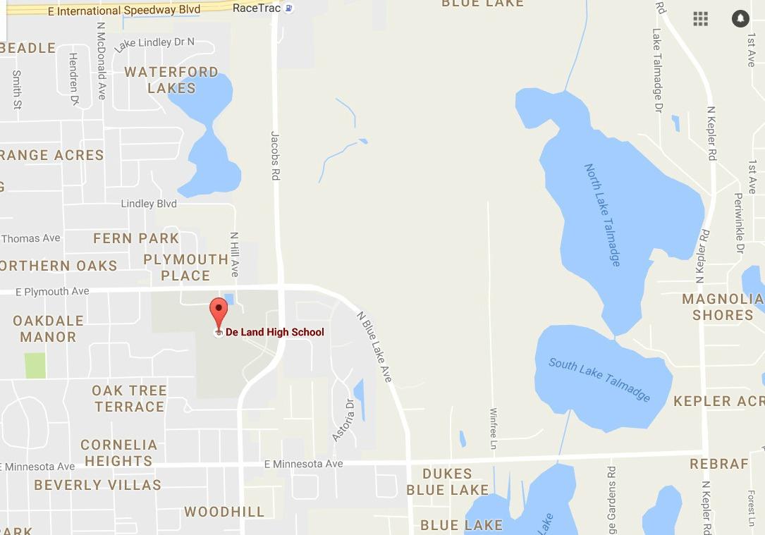 Deland High Map : Newsdaytonabeach - Deland Florida Map