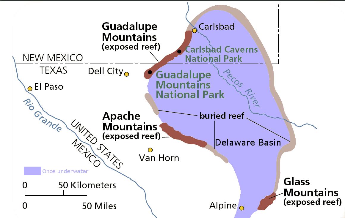 Delaware Basin - Wikipedia - Permian Basin Texas Map