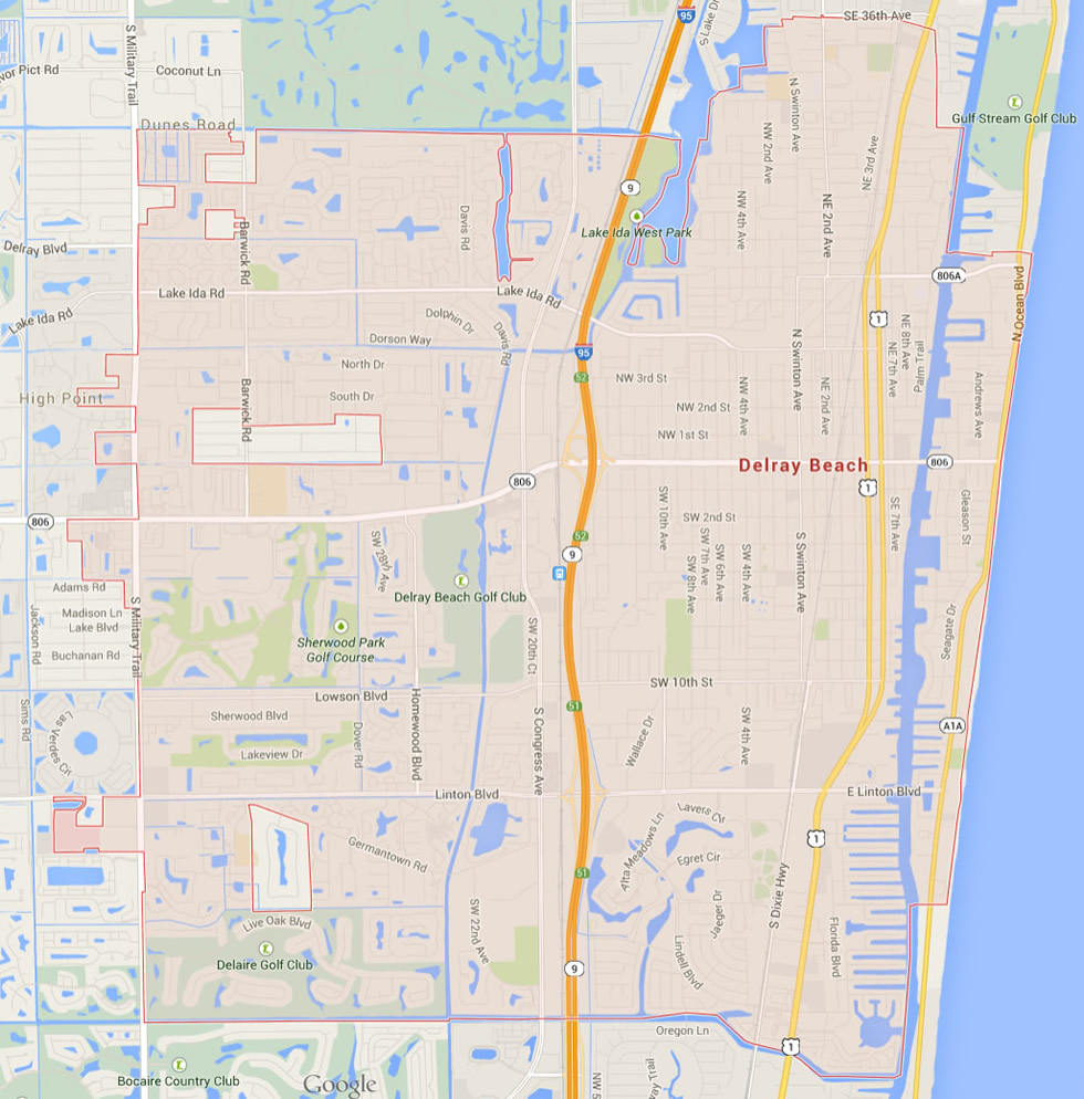 Delray Beach Florida Map - Del Ray Florida Map