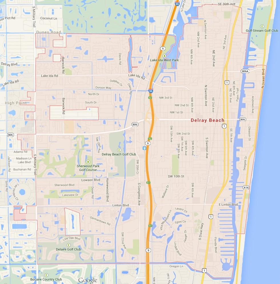 Delray Beach Florida Map Luxury Map East Coast Florida Map Florida - Highland Beach Florida Map