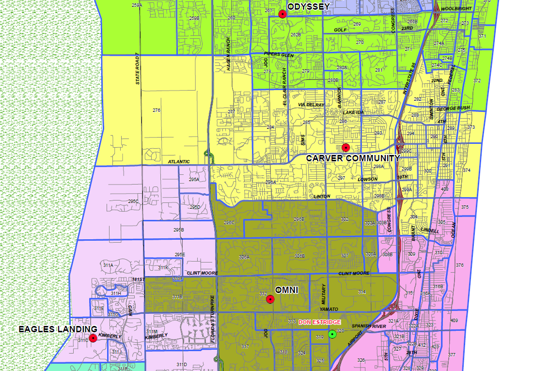 Delray Beach, Florida Public And Private Schools Information - Del Ray Florida Map