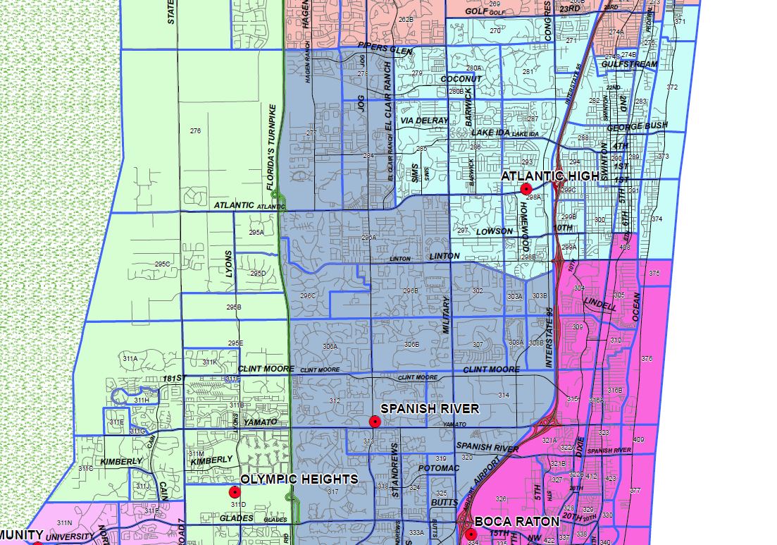 Delray Beach, Florida Public And Private Schools Information - Highland Beach Florida Map