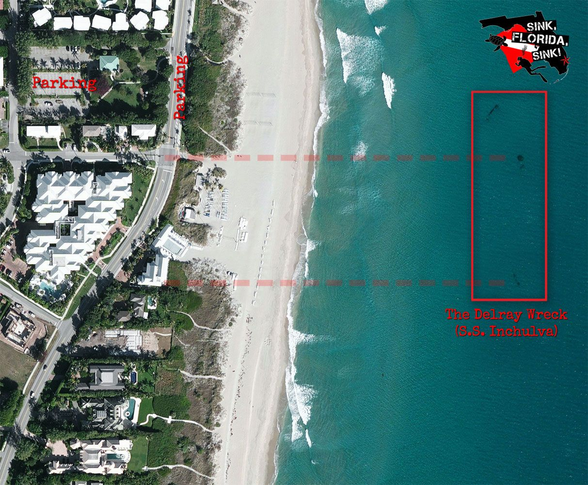 Delray Wreck Map | Map Of The Delray Wreck | Vacay Plans | Florida - Del Ray Florida Map