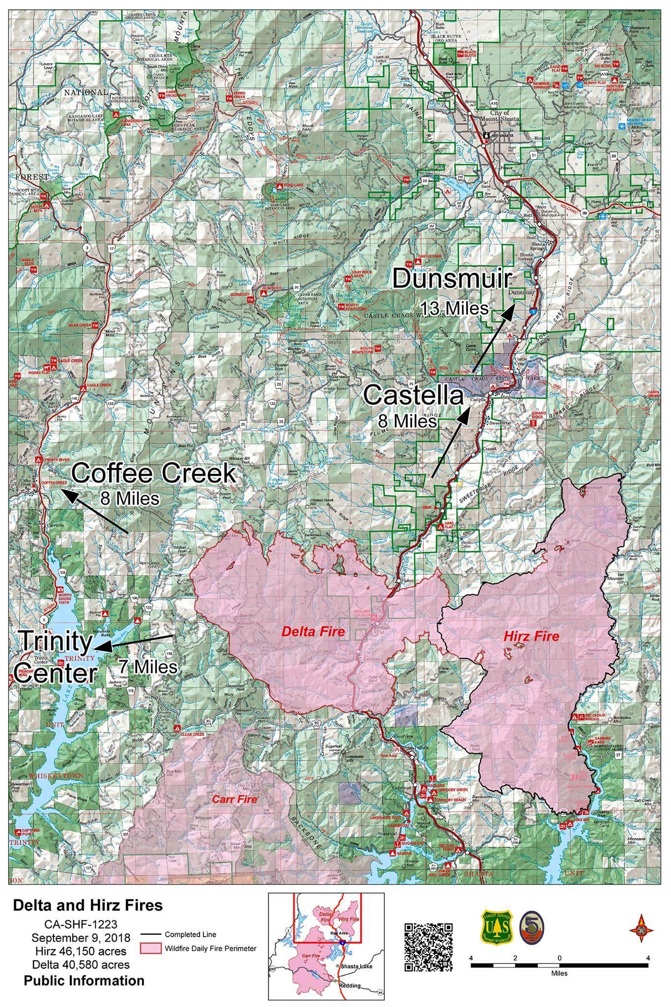 Delta Fire Map Update: California's Fast-Growing Wildfire Spreads To - California Delta Map