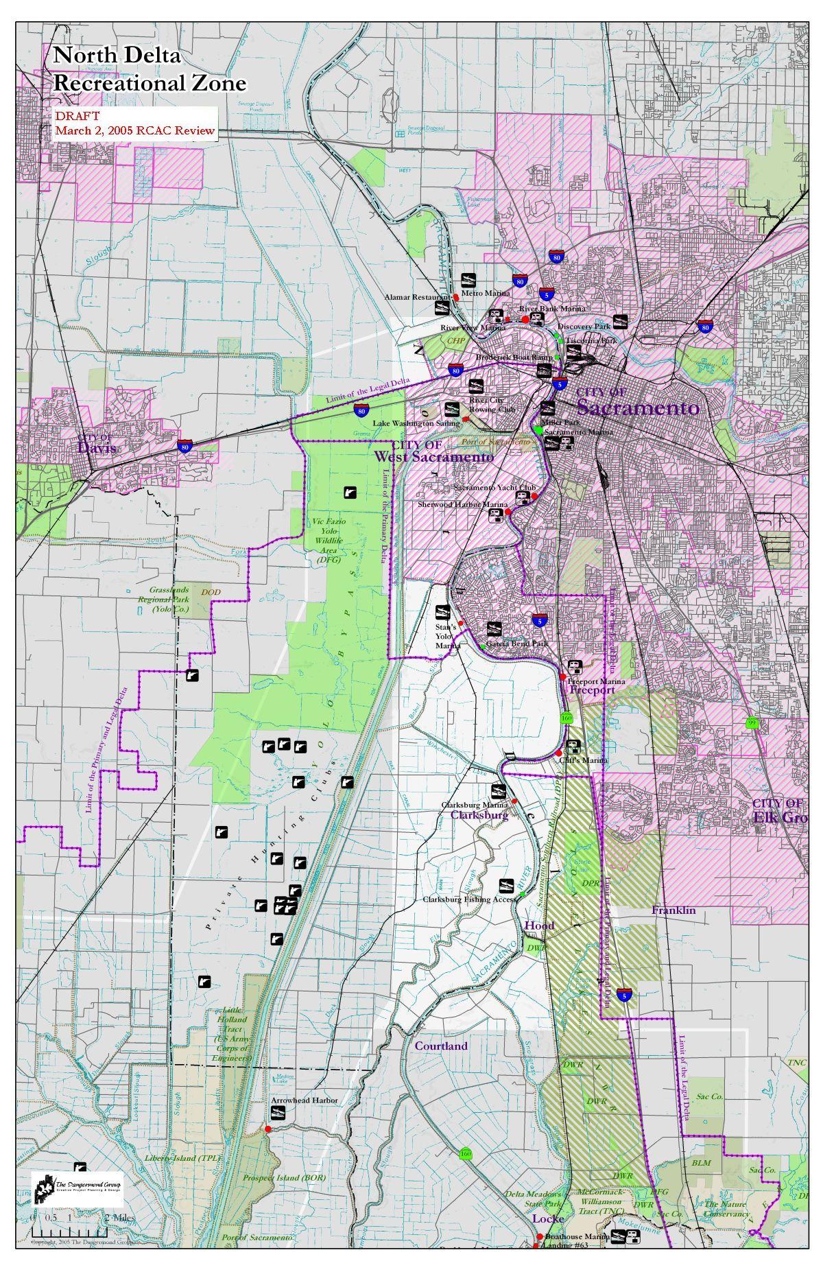 Delta Recreation Maps - Map Of California Delta Waterways
