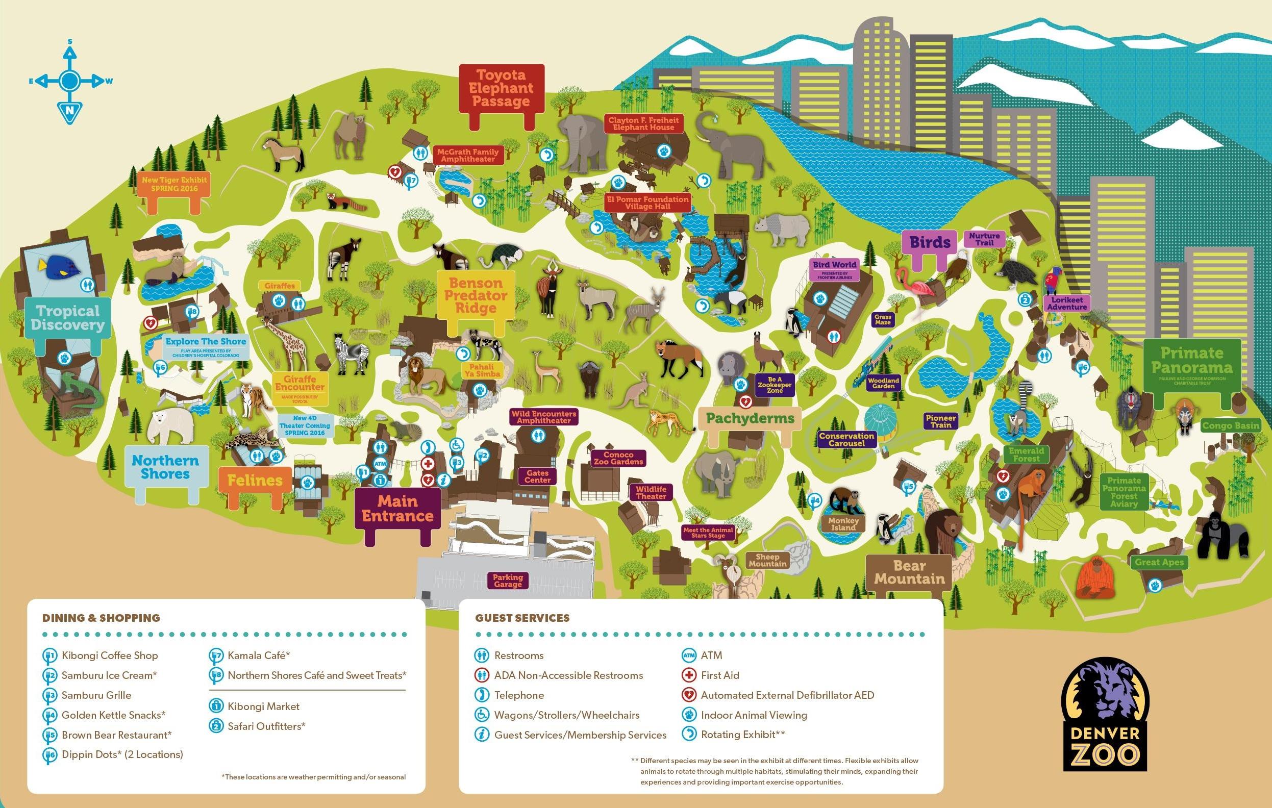 Denver Zoo Map - Central Florida Zoo Map