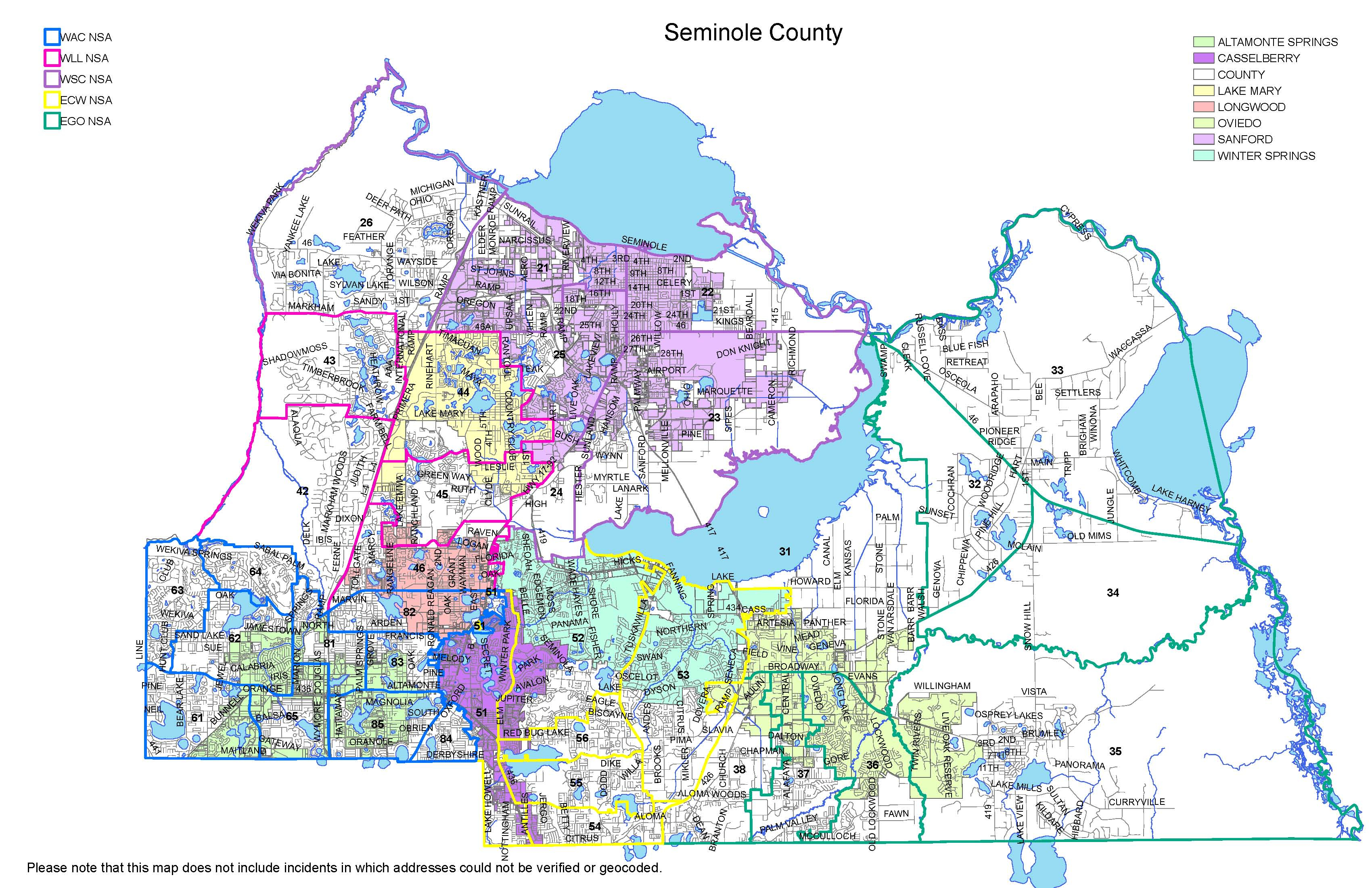 Department - My Neighborhood Policing Division Snp - Sanford Florida Map