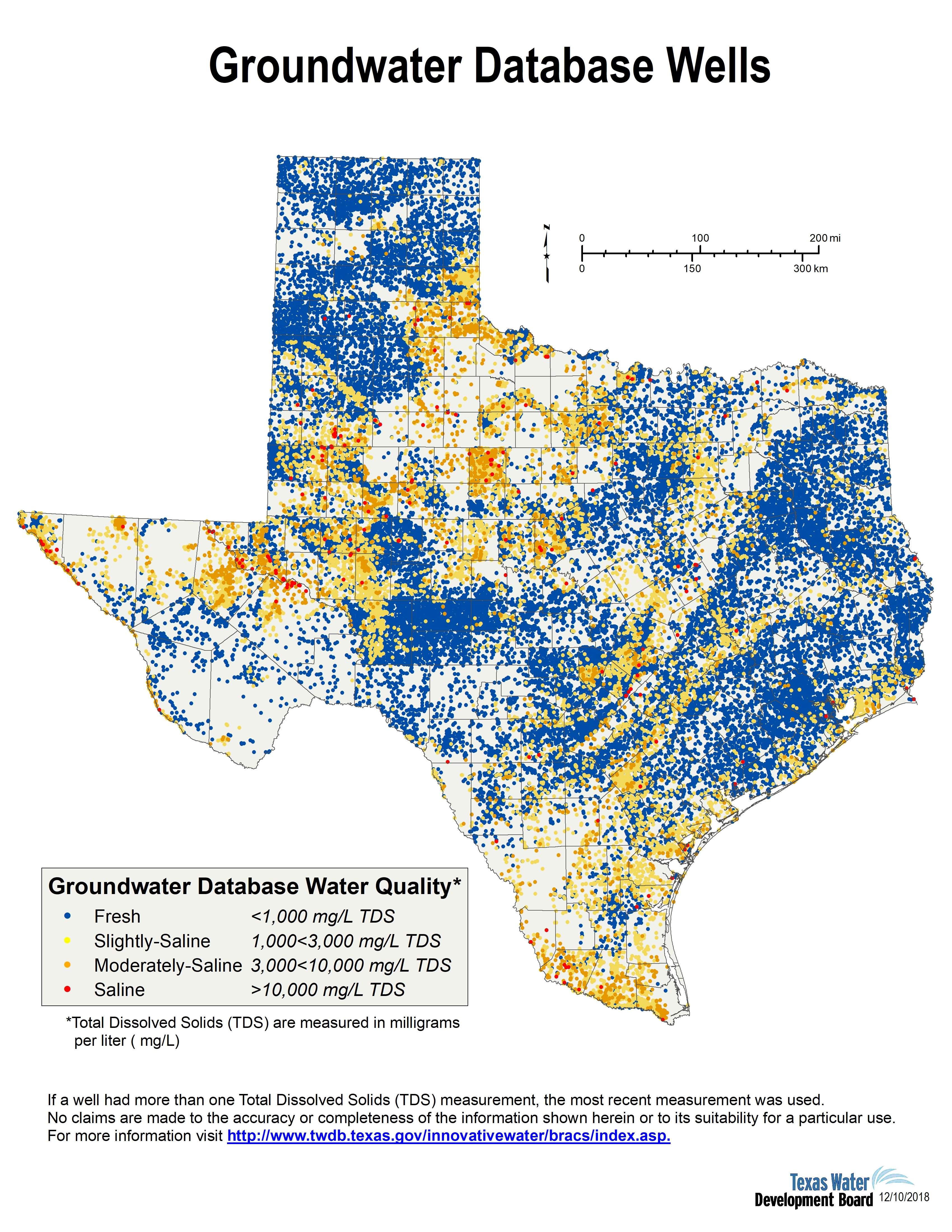 Desalination Documents - Innovative Water Technologies   Texas Water - Texas Water Well Location Map