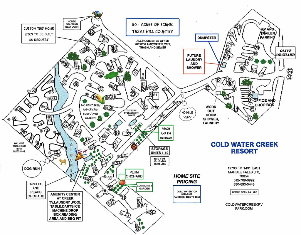 Design Your Own Slip - Coldwater Creek Rv Park - Texas Rv Parks Map